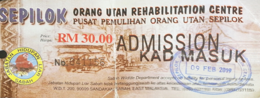 Sepilok Orangutan Rehabilitation Centre ticket 2019 - Travellers of Malaysia